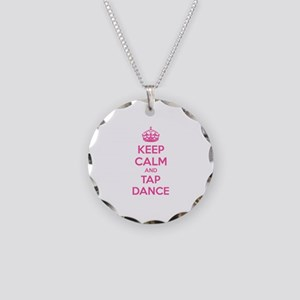 Keep calm and tap dance Necklace Circle Charm